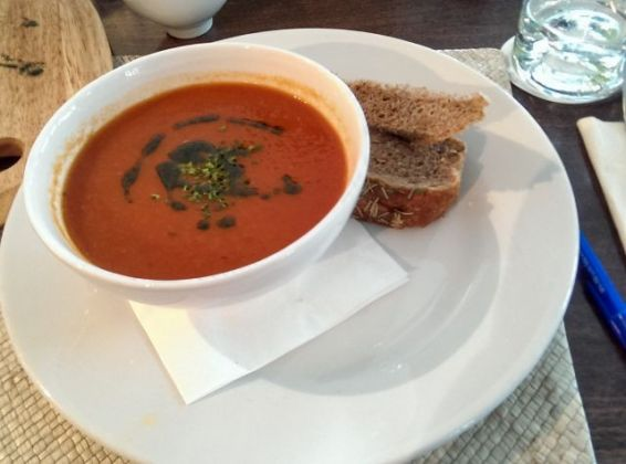Sands at Bleak House, Woking - Tomato & Basil Soup