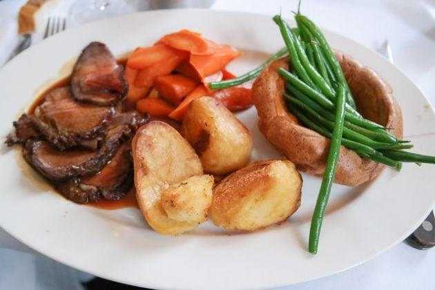The Gun, Docklands in London - Roast Beef