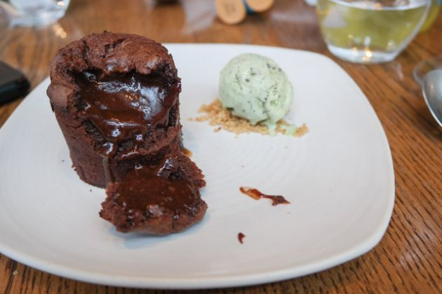 Bread Street Kitchen, St Pauls, London - Chocolate Fondant