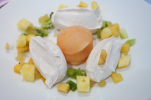 Brown Sugar Meringue with Champagne and Grapefruit Sorbet - East Coast Dining Room, Tankerton nr Canterbury, Kent