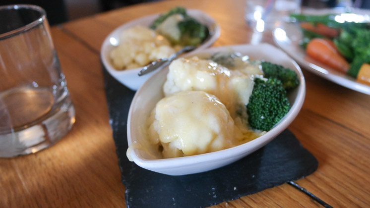 Cauliflower Cheese and Broccoli - The Moody Mare, Mereworth nr West Malling, Kent