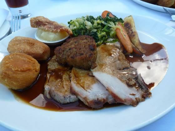 Chequers Brasserie, Cookham Dean, Marlow - Roast Pork