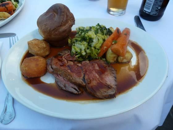 Chequers Brasserie, Cookham Dean, Marlow - Roast Beef