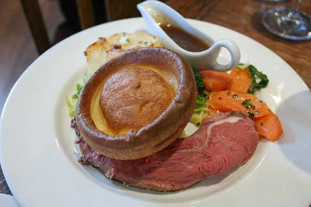Child's Roast Beef - The British Queen Brasserie, Farnborough in Bromley, Kent