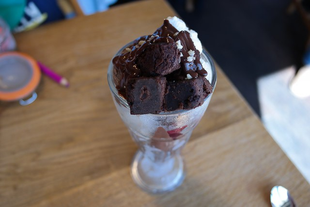 hocolate Brownie Sundae - The Kentish Hare, Bidborough, Royal Tunbridge Wells, Kent