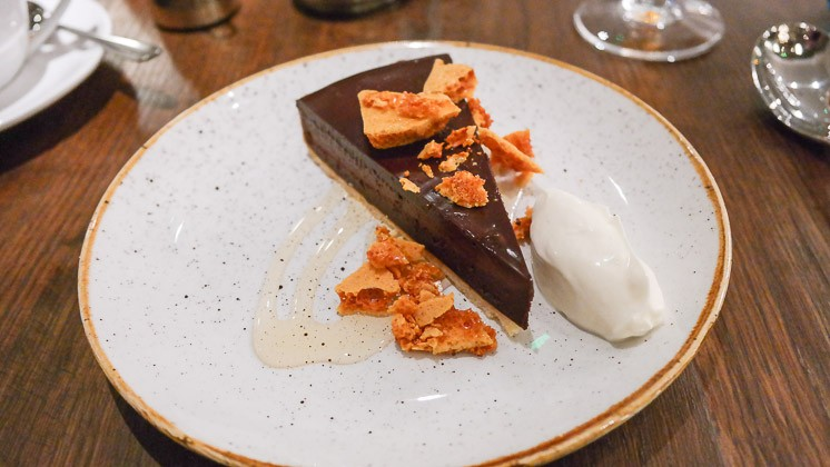 Chocolate Tart Dessert - The Swan, West Malling in Kent
