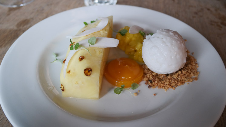 Compressed Pineapple Dessert - The George and Dragon, Speldhurst in Royal Tunbridge Wells, Kent