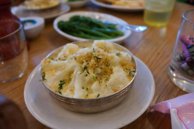 Hixster in Bankside, London - Cauliflower Cheese and Broccoli