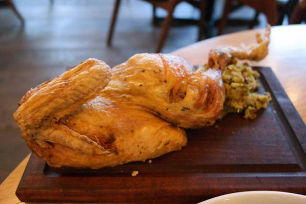 Hixster in Bankside, London - Half a Roast Chicken with Stuffing