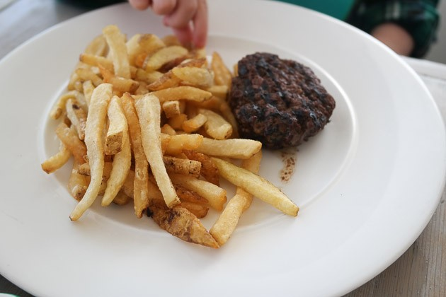 Kids Burger and Chips - The Gallivant, Camber near Rye, Kent