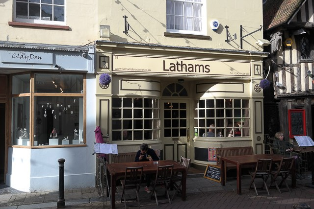 Lathams Brasserie in Hastings, East Sussex