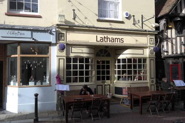 Lathams Brasserie in Hastings, East Sussex