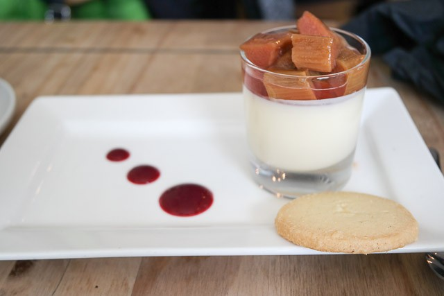 Lemon Posset with Rhurbarb - The Oxford, Whitstable in Kent