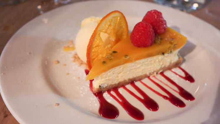 Orange & Passionfruit Cheesecake - The Three Chimneys, Biddenden in Ashford, Kent