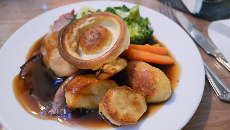 Mixed Roast Pork and Beef - The Two Brewers in Shoreham near Sevenoaks, Kent