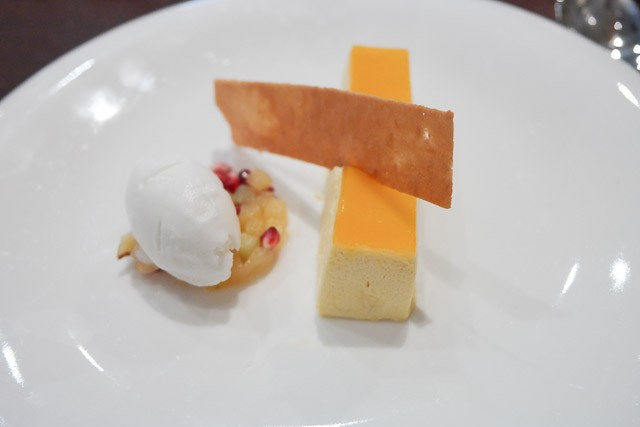 Passionfruit Mousse with Coconut Sorbet - County Restaurant at Abode, Canterbury in Kent