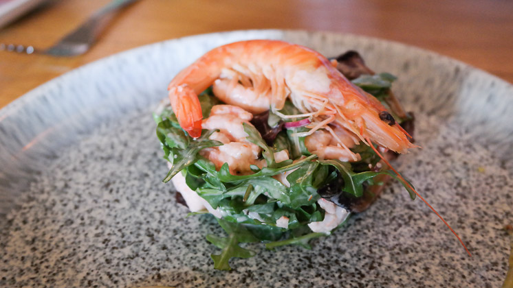 Prawn Salad Starter - The Moody Mare, Mereworth nr West Malling, Kent