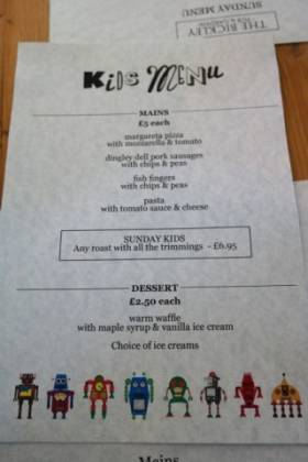 The Bickley, Chislehurst - Children's Menu