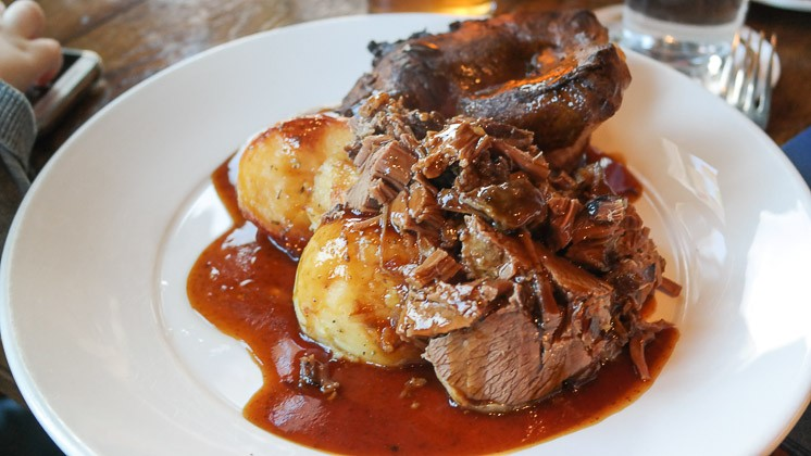 Slow Roast Beef Brisket - The Windmill in Sevenoaks Weald, Kent