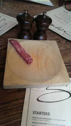 Sophies Steakhouse, Covent Garden in London - Salami nibbles