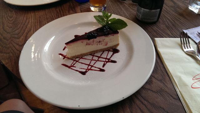 Sophies Steakhouse, Covent Garden in London - Vanilla Cheesecake