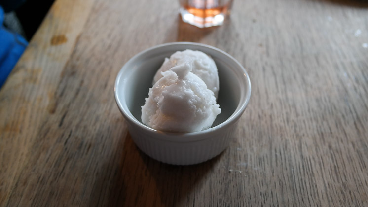 Coconut Sorbet - The George and Dragon, Speldhurst in Royal Tunbridge Wells, Kent