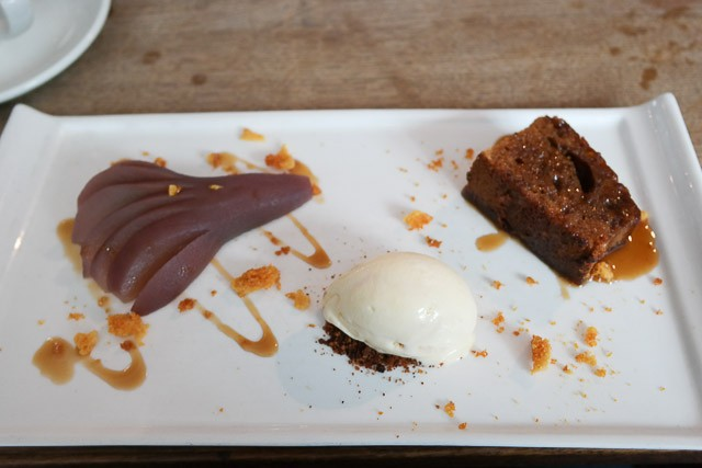 Sticky Toffee and Poached Pear - Deesons, Canterbury