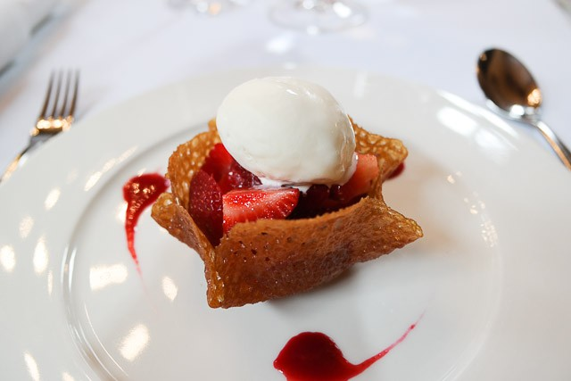 Strawberry Brandy Snap - The Swan at Lavenham,, Suffolk
