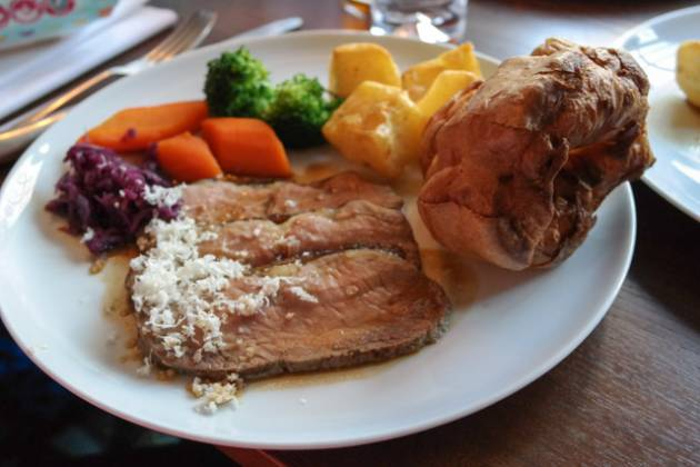 The Anchor in Ripley, Woking - Roast Beef & Grated Horseradish