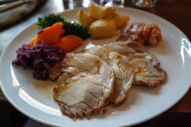 The Anchor in Ripley, Woking - Roast Pork & Crackling