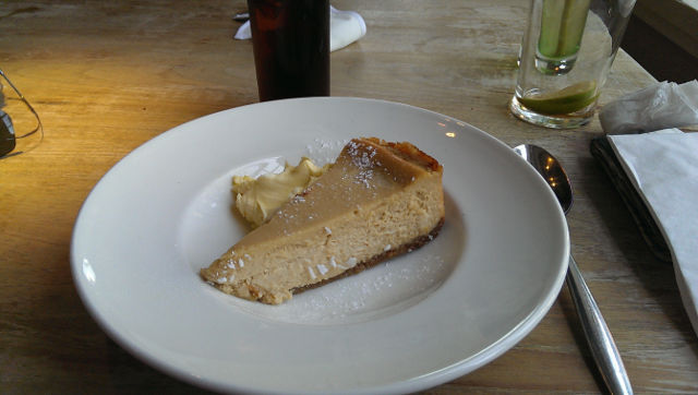 The Bell Inn, Godstone, Surrey - Baked Cheesecake Dessert