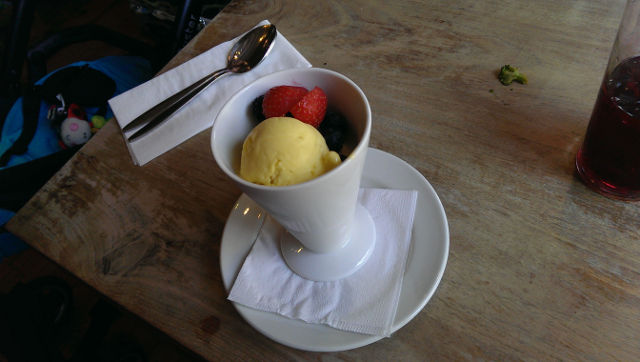 The Bell Inn, Godstone, Surrey - frozen yoghurt dessert