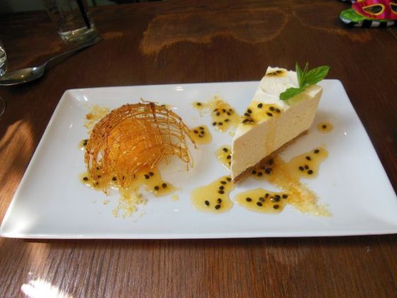 The Black Pig, Tunbridge Wells in Kent - Passionfruit Cheesecake