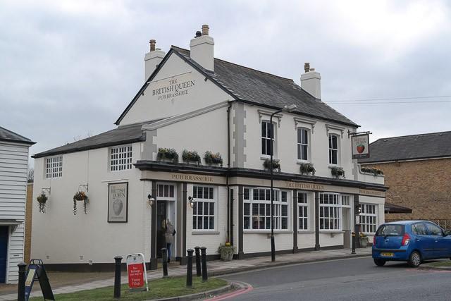 The British Queen Brasserie, Farnborough in Bromley, Kent