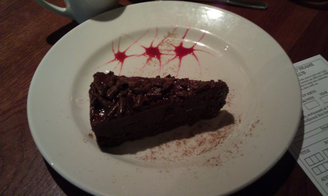The Crown Inn, Choc & Raspberry Torte dessert image