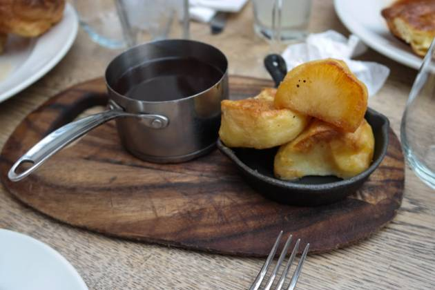 The Laughing Gravy, Southwark, London - Roast Potatoes and Gravy on the side