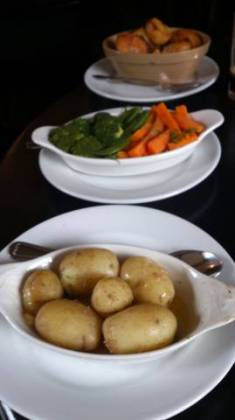 The Moody Cow, Upton Bishop - Potatoes and Veg