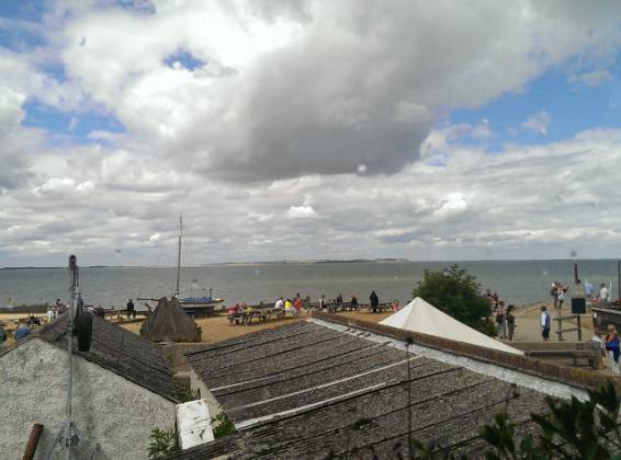 The Pearson Arms, Whitstable - view from our table