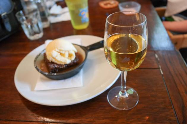 The Rosendale in West Dulwich, London - Sticky Toffee Pudding and Dessert Wine