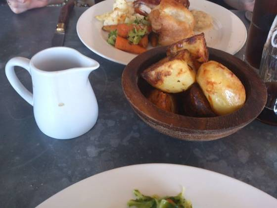 The Swan At The Globe, London - Roast Potatoes & Gravy