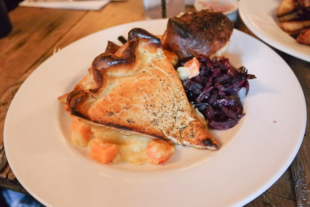 Vegetable Tart - The George, Egerton in Ashford, Kent