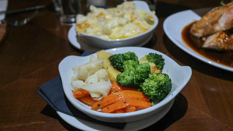 Vegetables and Extra Cauliflower Cheese - Cow & Pig, Bromley in Kent
