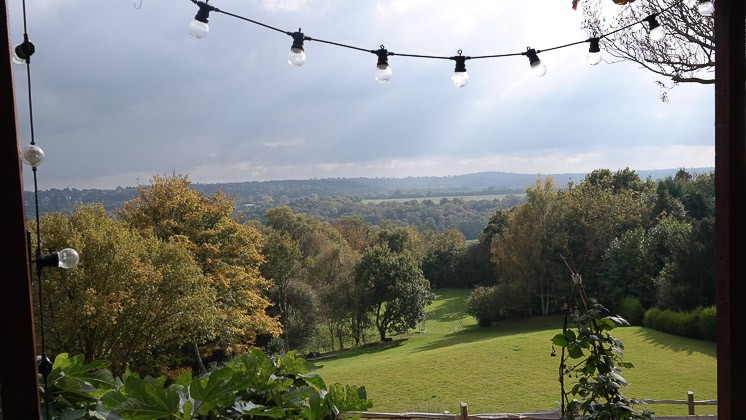 View from the garden - The Beacon, Royal Tunbridge Wells, Kent