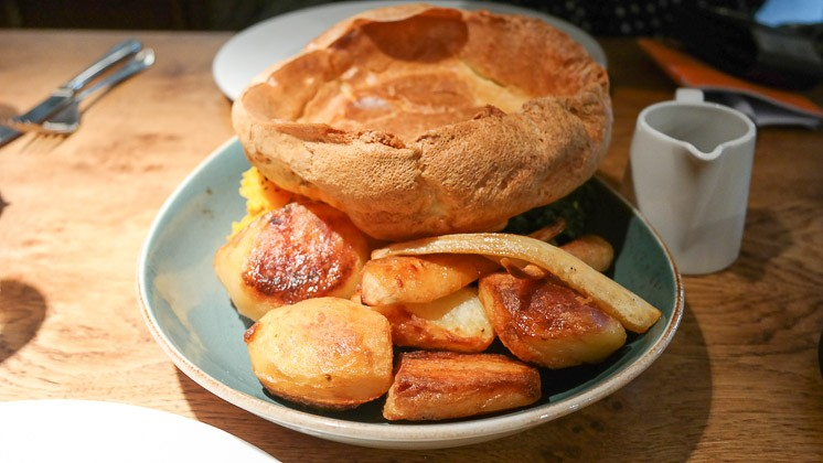 Yorkshire Pudding, Potatoes and Veg - The Swan at Chapel Down, Tenterden in Kent