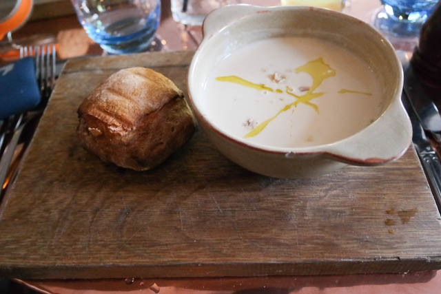 The Dirty Habit, Hollingbourne - Parsnip & Chestnut Soup starter