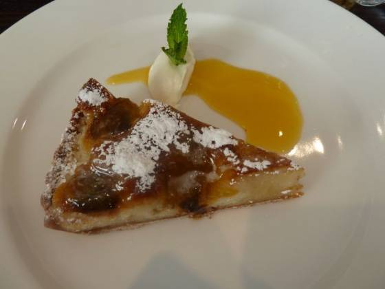 Chiswell Street Dining Rooms, Islington - Plum & Almond Tart