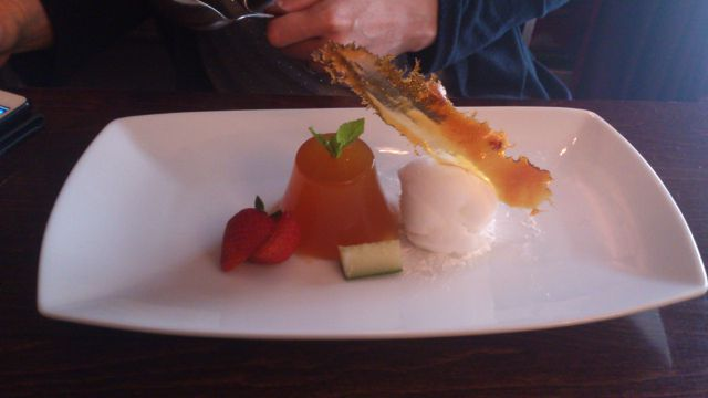 Satis House, Saxmundham - Pimms Jelly and Champagne Sorbet