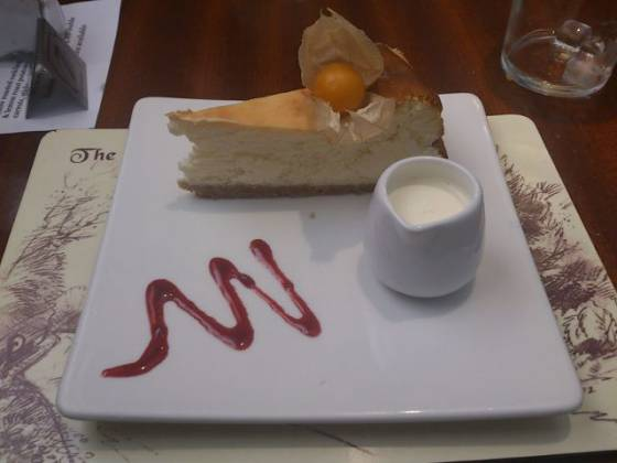 The Fox and Hounds, Westerham - Lemon Baked Cheesecake