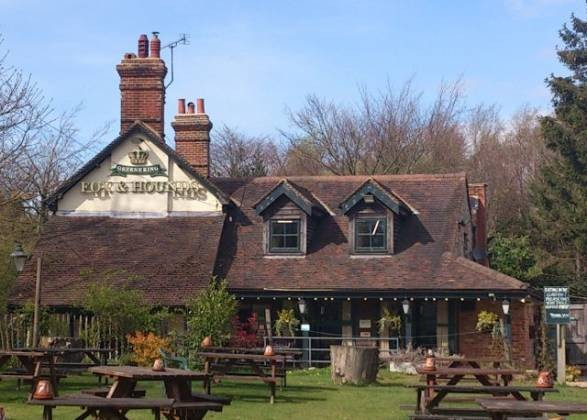 The Fox and Hounds nr Brastead, in Westerham, Kent