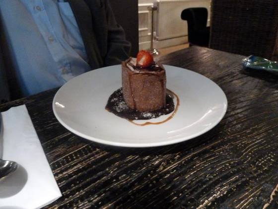 The George, Hayes, Bromley, Kent Chocolate Roulade Dessert image